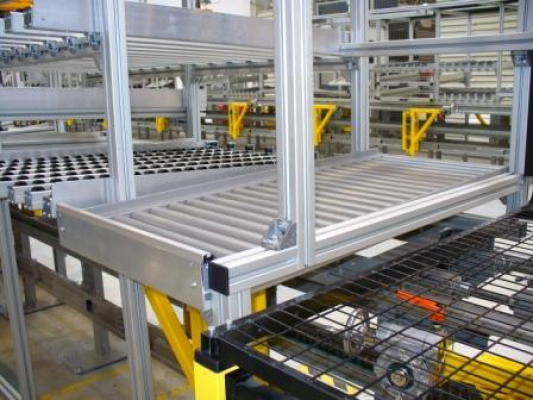 Assembly line for assembling stairs and drives of door systems