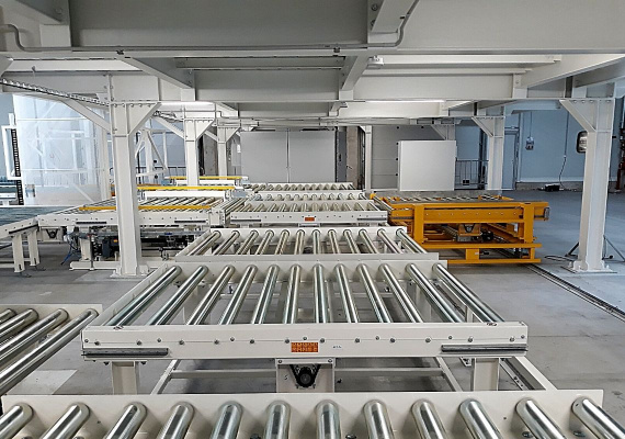The automatic conveyor line improved the production process of cooling electric batteries